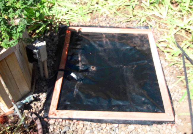 Recirculating Backyard Fountain: Add the Liner