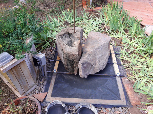 Recirculating Backyard Fountain: All objects in place / Ready to Test
