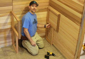 Set Upper Sauna Bench Supports