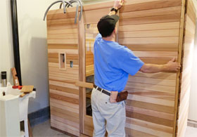 Front Wall Sauna Panels