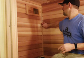 Sauna Interior Corner Trim